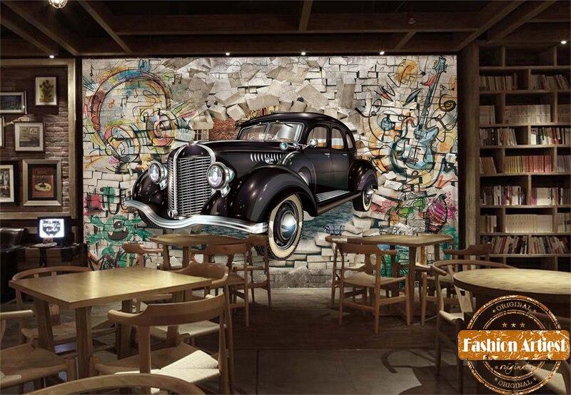 Personnalise 3d Automobile Papier Peint Classique Vintage Voiture