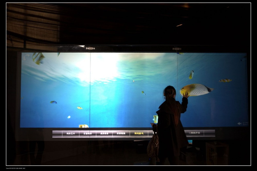 47 inch interactive touch foil 2 points touch screen film through glass window shop for touch kiosk, table etc