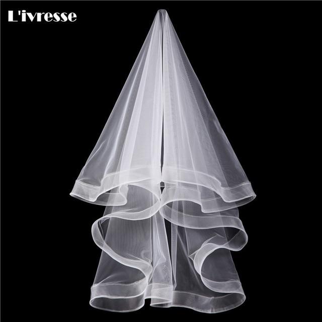1 layer short white ivory wedding bridal veil wedding accessories 1 layer short white ivory wedding bridal veil wedding accessories telescopic edge junglespirit Choice Image