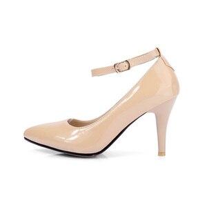 Image 4 - מותג חדש מכירות סקסיות נשים מישמש שחורות עירום משאבות עקבים גבוהים ספייק נעלי כלה גברת HS193 בתוספת גודל קטן גדול 10 31 45 47