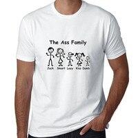 Custom Tee Shirts Men S Short Ass Family Stick Figures Crew Neck Zomer T Shirts