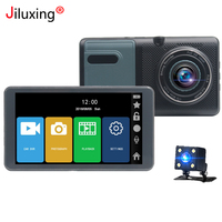 Jiluxing 5 1080P touch screen Car DVR for truck Two cameras Video Recorder Dash Cam Loop video car black box vehicle cameras