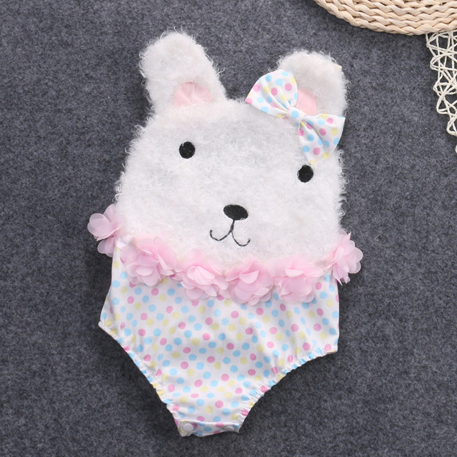 dc7cbe717 Easter Clothing Set for Newborns Lovely Bunny Infant Jumpsuit Romper  Cartoon Rabbit Cotton Baby Girl Clothes