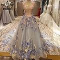 Advanced Grey Sleeveless Tulle Sexy Wedding Dress Romantic Flowers Embroidery Photography Bridal Gowns Vestido De Noiva