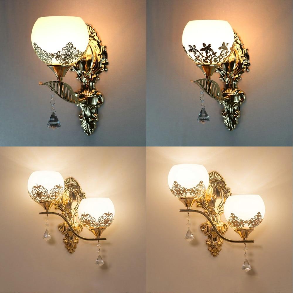 moderna lampada de parede led estilo europeu ouro luz da parede quarto lampadas leitura corredor escadas