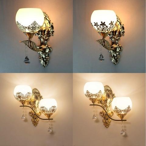 moderna lampada de parede led estilo europeu ouro luz da parede quarto lampadas leitura corredor