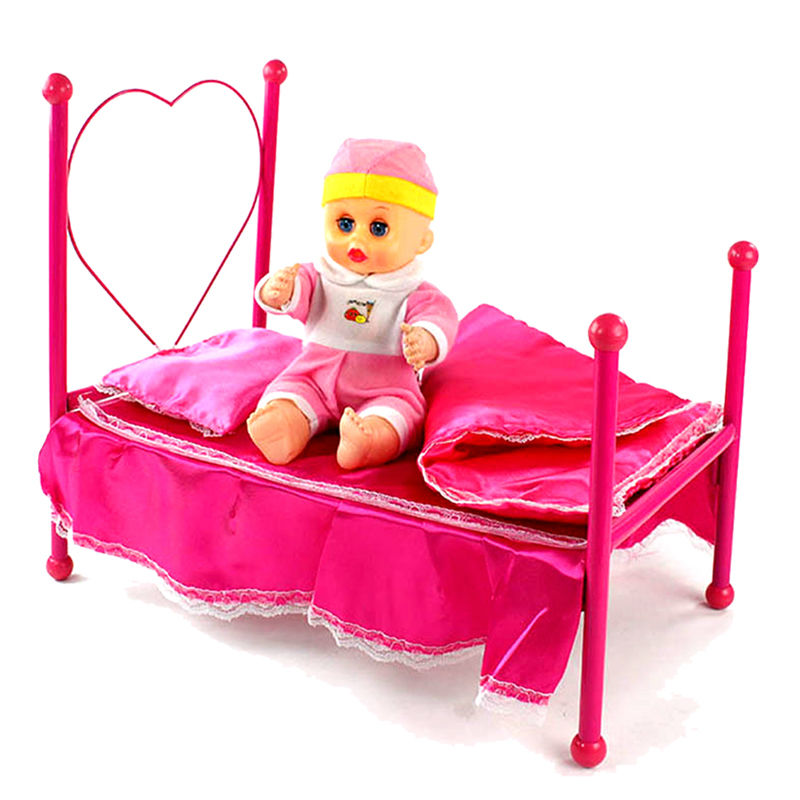 dollhouse miniature furniture rose princess bedroom doll house room dollhouse furniture educational toy baby toys gift cheap doll houses with furniture