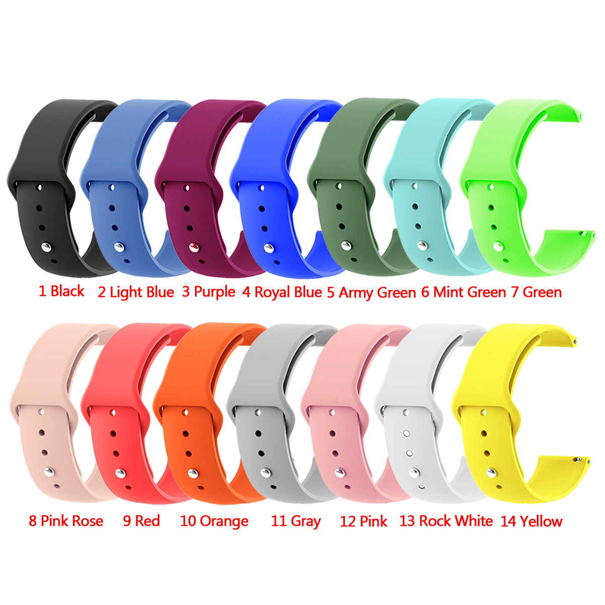 Laforuta Silicone Band for Suunto 3 Fitnes Strap 20mm Quick Release Wristband Suunto3 Fitnes Bracelet Sport Loop in Watchbands from Watches