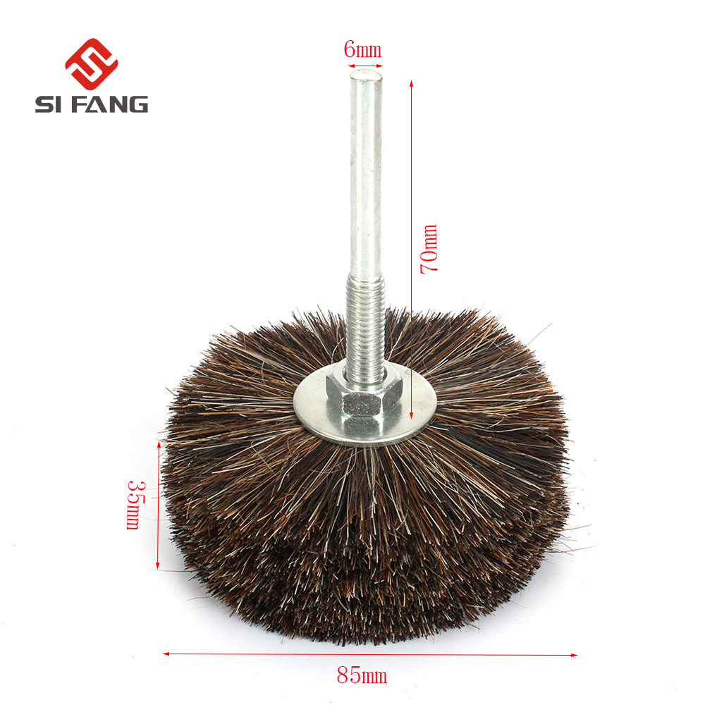1PC Abrasive Wire Grinding Flower Head Abrasive Wheel Horsehair Brush Woodwork Polishing Brush Bench Grinder For Wood Furniture