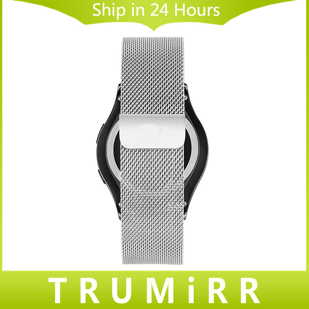Milanese Loop Band for Pebble Time Round 20mm Men Huawei Watch 2 Bradley Timepiece Magnetic Stainless Steel Strap Wrist Bracelet 20mm milanese watch band quick release for samsung gear s2 classic sm r7320 pebble time round stainless steel strap bracelet
