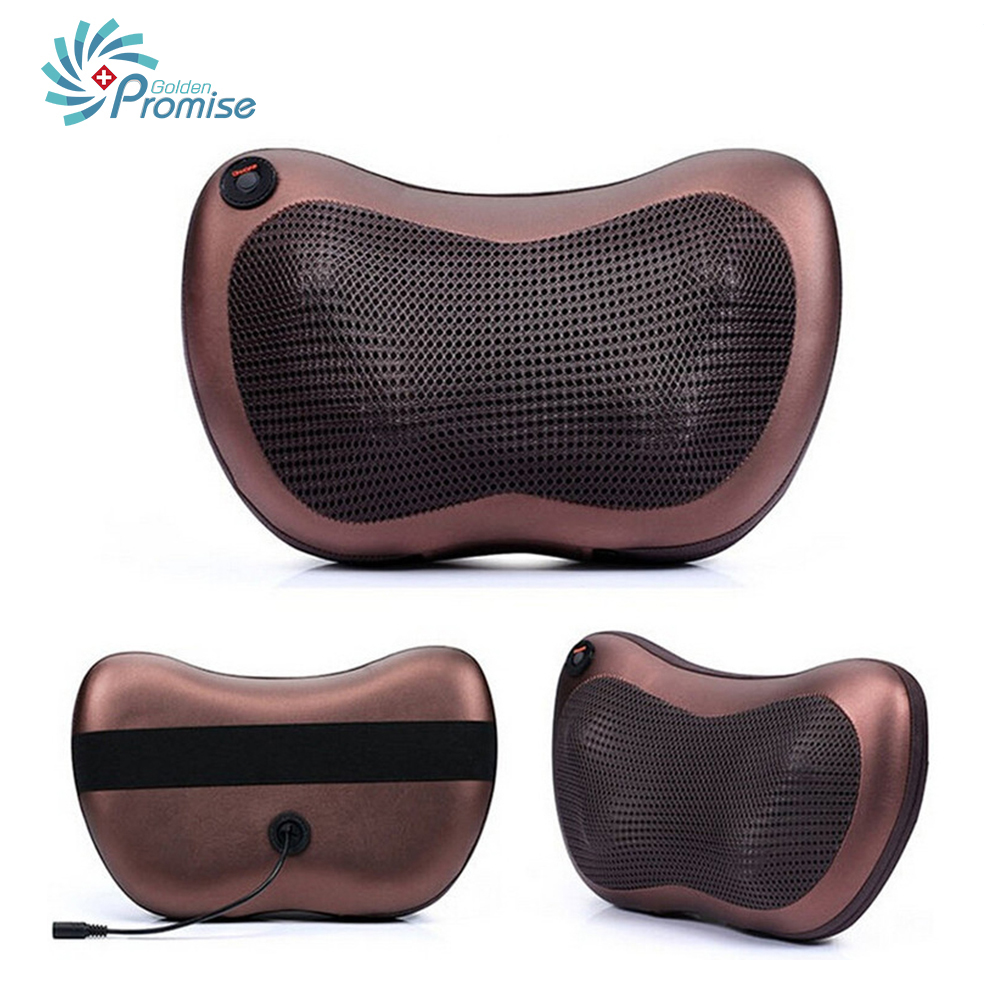 Shiatsu Deep Kneading Infrared Massage Pillow with Heat Car Office Chair Home Massager Neck Shoulder Back Waist Massager Pillow electric massage pillow infrared heating kneading cervical neck shoulder auto shiatsu massager car use massage