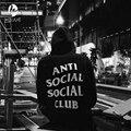 streetwear hip hop kanye black/white/pink men hoodie sweatshirts fashion brand clothing skate sweat Assc anti social social club