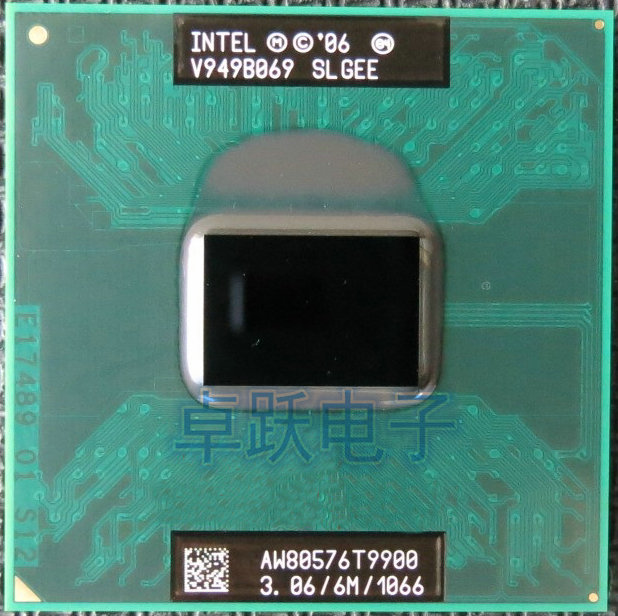 T9900 Intel Core 2 Duo 3.06 GHz 6MB 1066 MHz Socket P US free shipping SLGEE