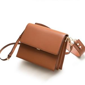 Image 5 - bag 2019 new han edition joker inclined shoulder bag ins super fire bags fashionable wide straps one shoulder bag