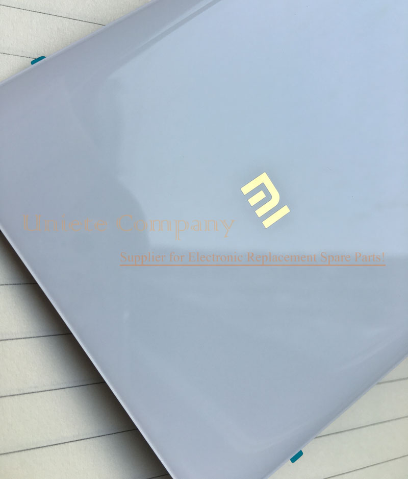 """Original Golden """"MI"""" New Battery Door For Xiaomi Mi Note Pro 5.7 inch Glass Back Rear Cover Housing With Frame Clips Tools Parts"""