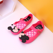 Mini messa Girls shoes princess 2016 Summer Girls Sandals Cute Children Baby Shoes Sandals for girls Jelly shoes Kids sandals
