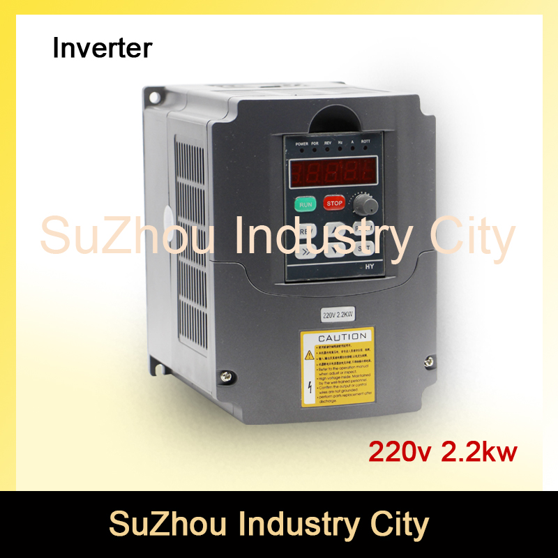 Sale! 220v 2.2kw VFD Variable Frequency Drive VFD Inverter 1HP or 3HP Input , 3HP Output CNC Spindle motor driver speed control! inverter 1500 watt 1 5 kw 1000hz 220v input 75v output inverter vfd for 1 5kw motor speed control drive capacity 2 8kva
