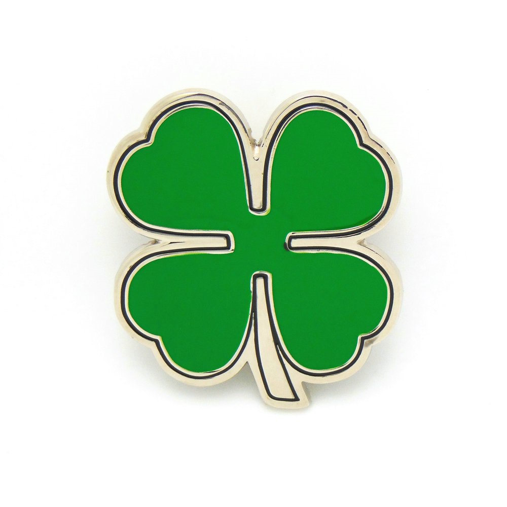 Western Cowboy Belt Buckle Green Leaf Four Leaf Personality Zinc Alloy Men's Smooth 4.0 Buckle
