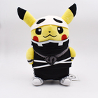 """Anime 12"""" Pikachu Cosplay Team Skull Suit Plush Toys Allstar Collection Peluche Dolls For Kids Christmas Gift Free shipping"""