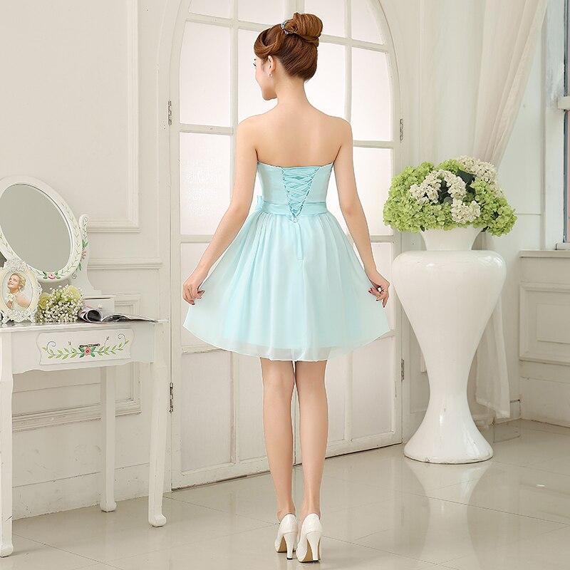 97d14ff39 LC291M Cielo Azul Vestido de Dama de honor Vestido Mini Sexy Gasa Vestido  De Fiesta Corto de dama de Honor Baratos Vestidos de Dama de Under 50 en  Vestidos ...