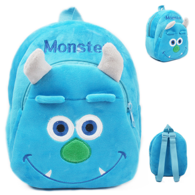 2016 New baby lovely cartoon character school bags children blue monster design backpack little kids 3D candy bags, I091 - Rising Kid store