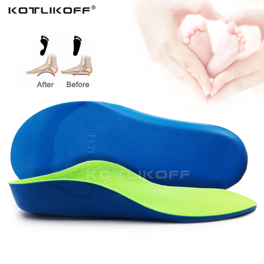 KOTLIKOFF Children Kids Orthopedic Insoles Flat Foot Arch Support Correcting O/X legs Orthotic Pad Correction Health Feet Care