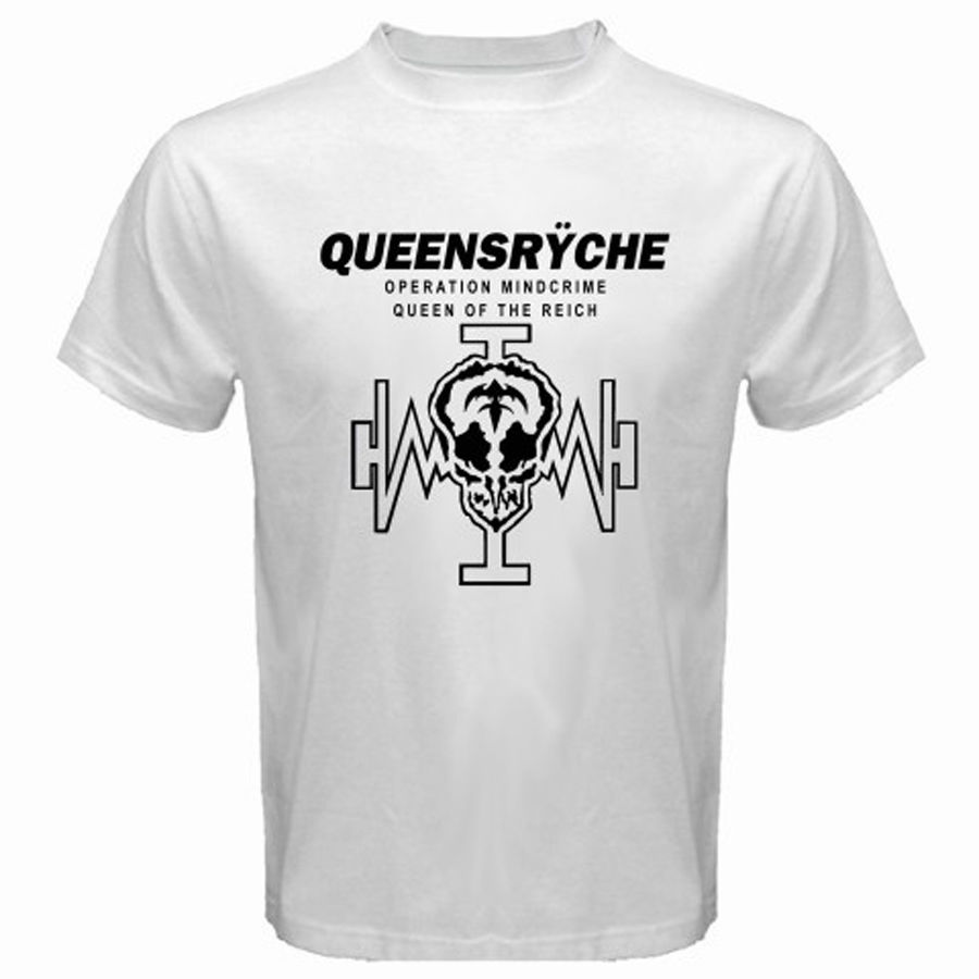 New QUEENSRYCHE Operation Mind Crime II Rock Band Men/'s White T-Shirt Size S-3XL