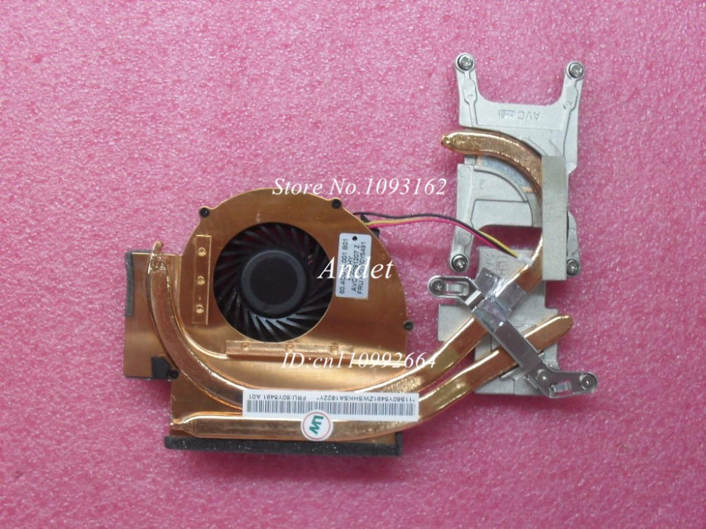 New Original For Lenovo ThinkPad T510 T510i Cpu Cooling Fan Heatsink 60Y5491 60Y5492 2200rpm cpu quiet fan cooler cooling heatsink for intel lga775 1155 amd am2 3 l059 new hot