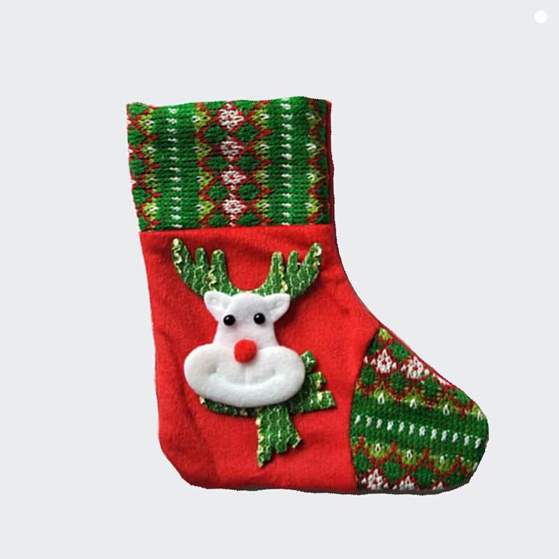 20cm/7.8 Inch Felt mini christmas stocking kid xmas stocking ...