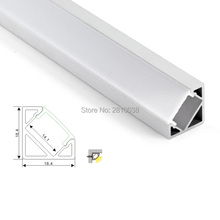 50 X2M Sets/Lot V shape led strip profile aluminum and right angle extrusion housings for kitchen corner lamp