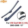 Qeepei traseras limpiaparabrisas y el brazo para vw golf mk 5 (1 K) 2003-2008 13 ''3/5 puertas Hatchback de Alta Calidad Iso9000 De Caucho Natural