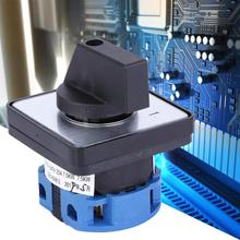 Electric 2-Position 4 Terminals Locking Type Changeover Selector Control Switch AC 660V 20A Rotary Cam