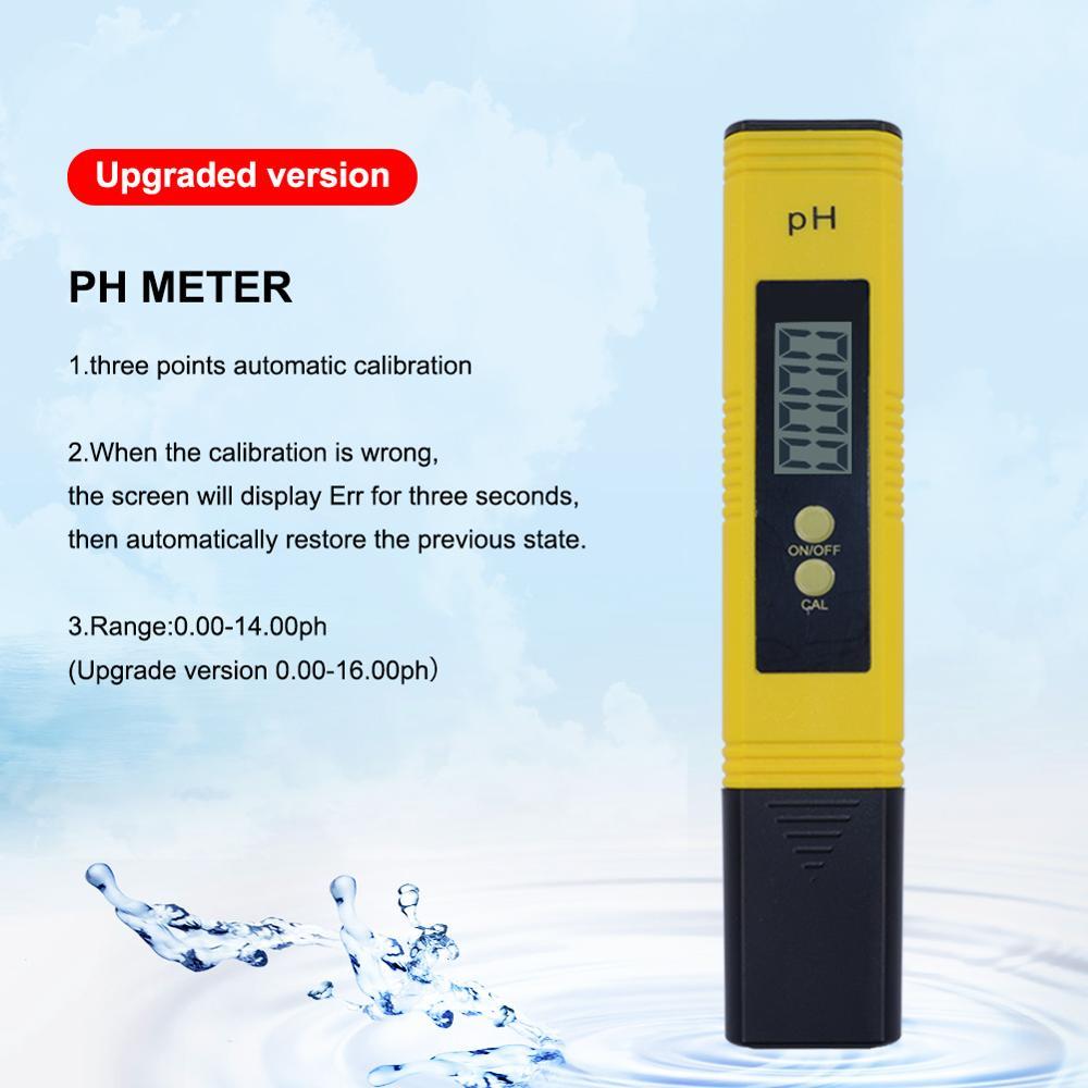 100 pcs/lot LCD numérique stylo Type PH mètre gamme: 0.00 ~ 14.00 testeur de qualité de l'eau pour Aquarium piscine eau vin Urine