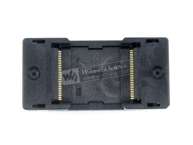 TSOP56 IC Test Socket OTS-56-0.5-003 Enplas Programmer Adapter With 56 Pins  0.5mm Pitch 18.4mm Width