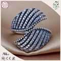 Top Quality Luxurious And Exaggerated Famous Brand 100% Retro 925 Sterling Silver Double Wings Ring