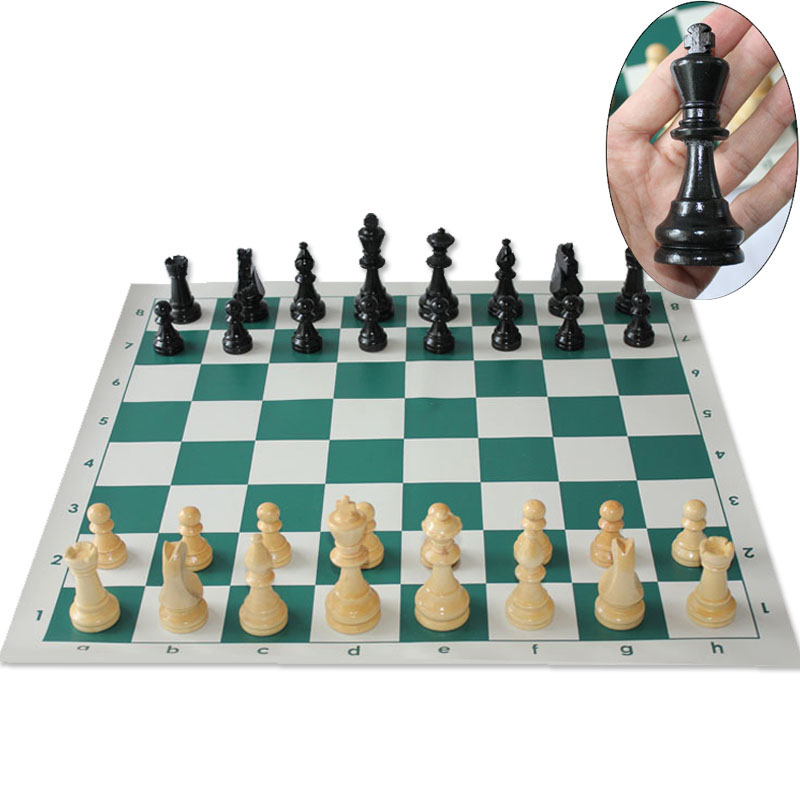 Quality Chess Game King High 97mm 77mm 64mm Medieval Chess ...