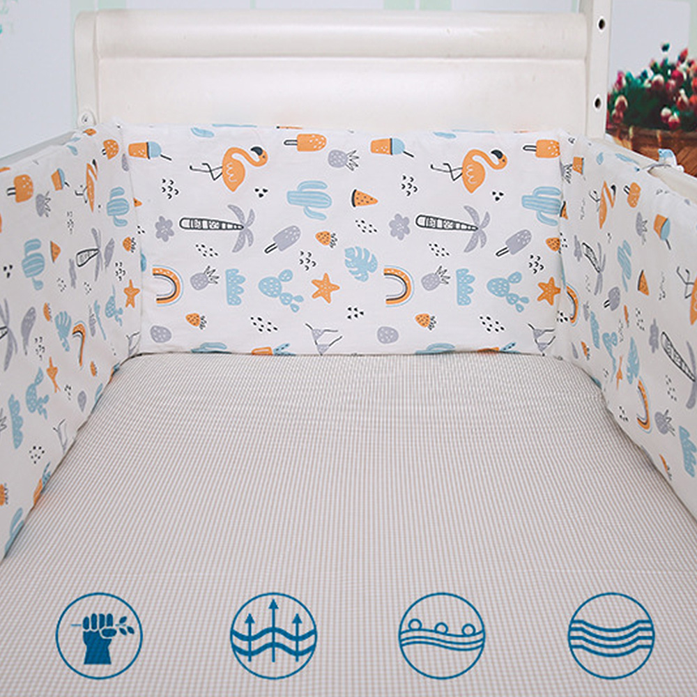 Baby Bed Crib Bumper Newborn Bumpers Infant Safe Fence Line Protector Safety Cotton Mix Baby Bedding
