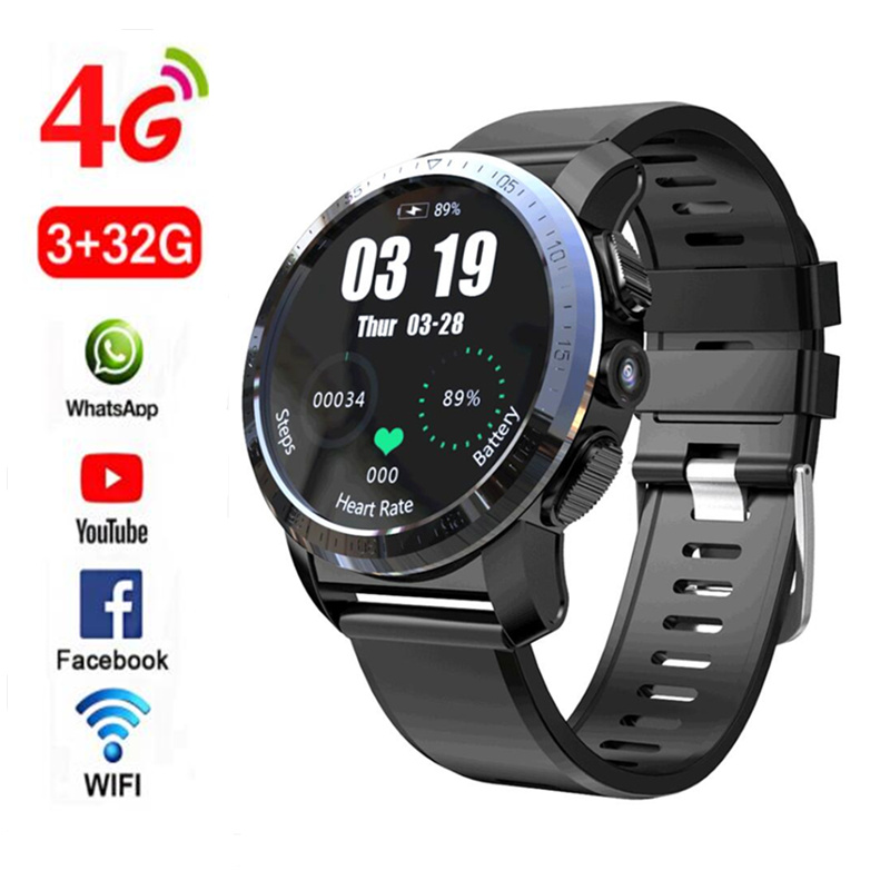 KOSPET Optimus Pro 3GB 32GB Dual Systems 4G Smart Watch Phone Waterproof 8.0MP 1.39
