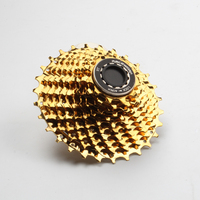 Road Bike 11 Speed Cassette Bike Flywheel Gold Cassette Sprocket 11S 28T 32T Compatible For SRAM Shimano 5800 6800 R7000 R8000