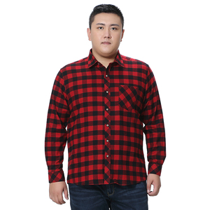 Image 2 - Fat Guy Plus ขนาด 5XL 6XL 7XL 8XL 100% ลายสก๊อตผ้าฝ้ายลายสก๊อตเสื้อผู้ชายแขนยาว Flannel สูงแฟชั่นคุณภาพ