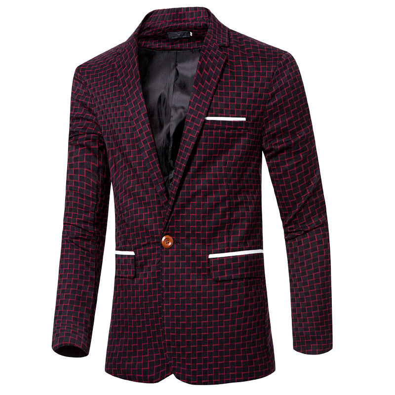 b0c1ba07aabe M-3xl!!! nouveau Printemps Raie De Mode Blazer Hommes Costume Décontracté  Mens Blazers Slim Fit Un Bouton Veste Plus La Taille Blazer Hommes