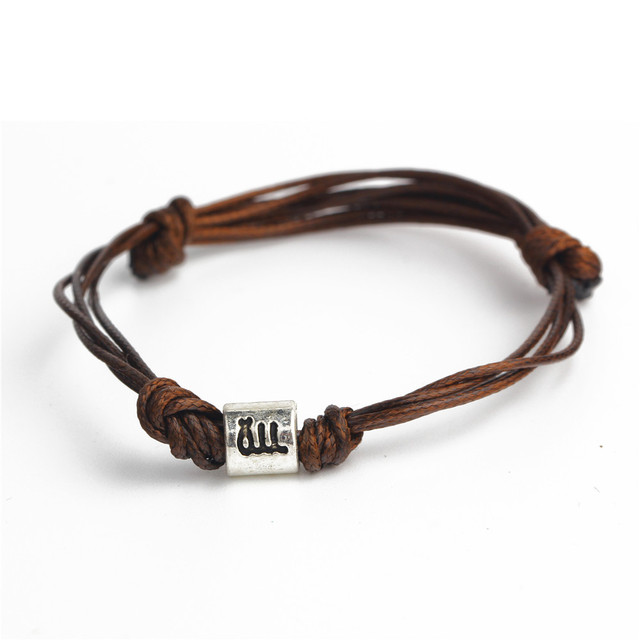 Men S Brown Leather Bracelets For 2017 Fashion Zodiac Signs Bracelet Mens Astrology Jewelry Horoscope Gift