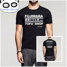 İlk D Manga HachiRoku vites sürüklenme erkekler T gömlek Takumi Fujiwara Tofu dükkanı teslim AE86 T shirt erkek marka giyim Tee gömlek