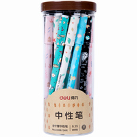 24 Pcs Set Wholesale Deli Gel Pens 0 35mm Refill School Supplies Plastic Gel Pens For