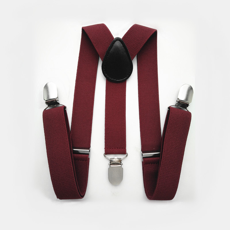 BD003- Charming Red Series Baby Suspenders 3  Clips On Adult Women Suspender High Quality Adjustable Y Back Kids Bracs