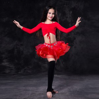 New 2017 Kids Child Oriental Dancing Costumes Sexy Bellydance Set Dress Tops Skirt Suits Clothes S