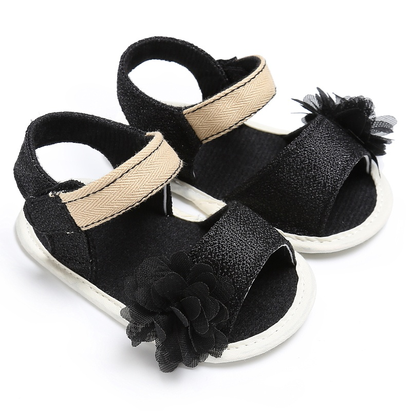 2017 Summer Beach Princess Style Girls Kids Candy Color Cute Flower Anti-skid Casual Sandal Baby Shoes
