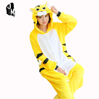New Flannel Autumn Winter Pajama Tiger Cartoon Cosplay Adult Unisex Homewear Cute Onesie For Adults Animal
