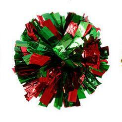 red green Small cheer pom poms 5c64fbbde3eae