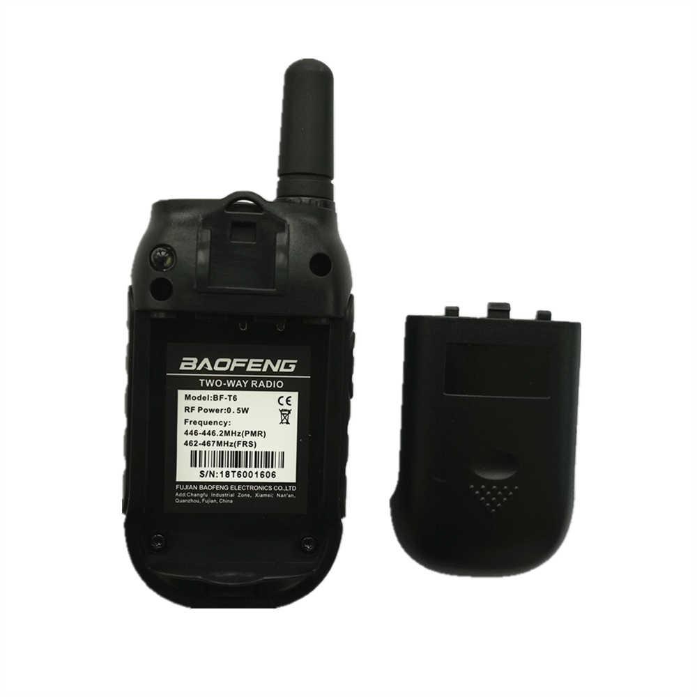 Мини-рация Baofeng T6 FRS PMR Портативное двухстороннее радио BF-T6 для детей игрушка ветчина радио FM приемопередатчик Woki Toki BFT6
